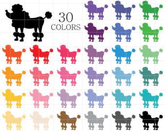 clipart dog color wine silhouette #2