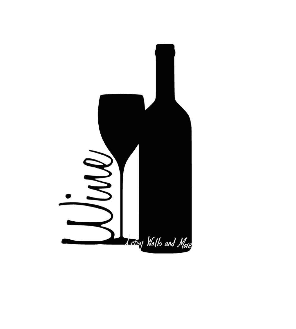 Clipart dog color wine silhouette clipground for How to cut the top off a wine bottle