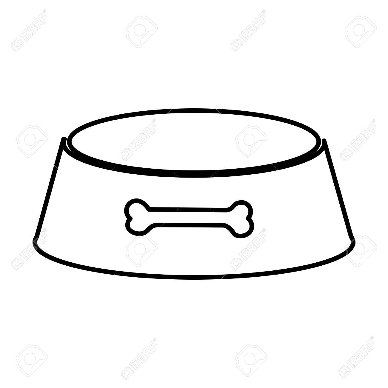 Dog Bowl Silhouette.