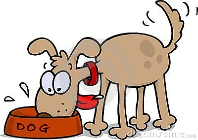 Dog Eating Clipart.