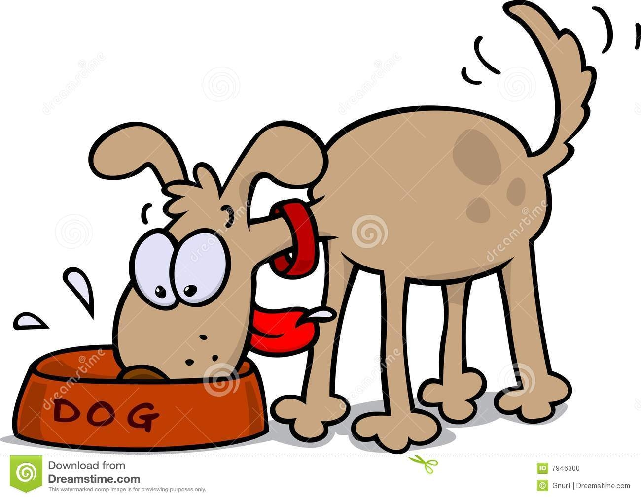 Eating Dog Clipart.