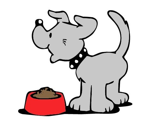Dogs Eating Clipart.