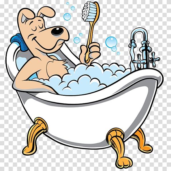 Dog taking bath illustration, Poodle Puppy Cat Dog grooming.