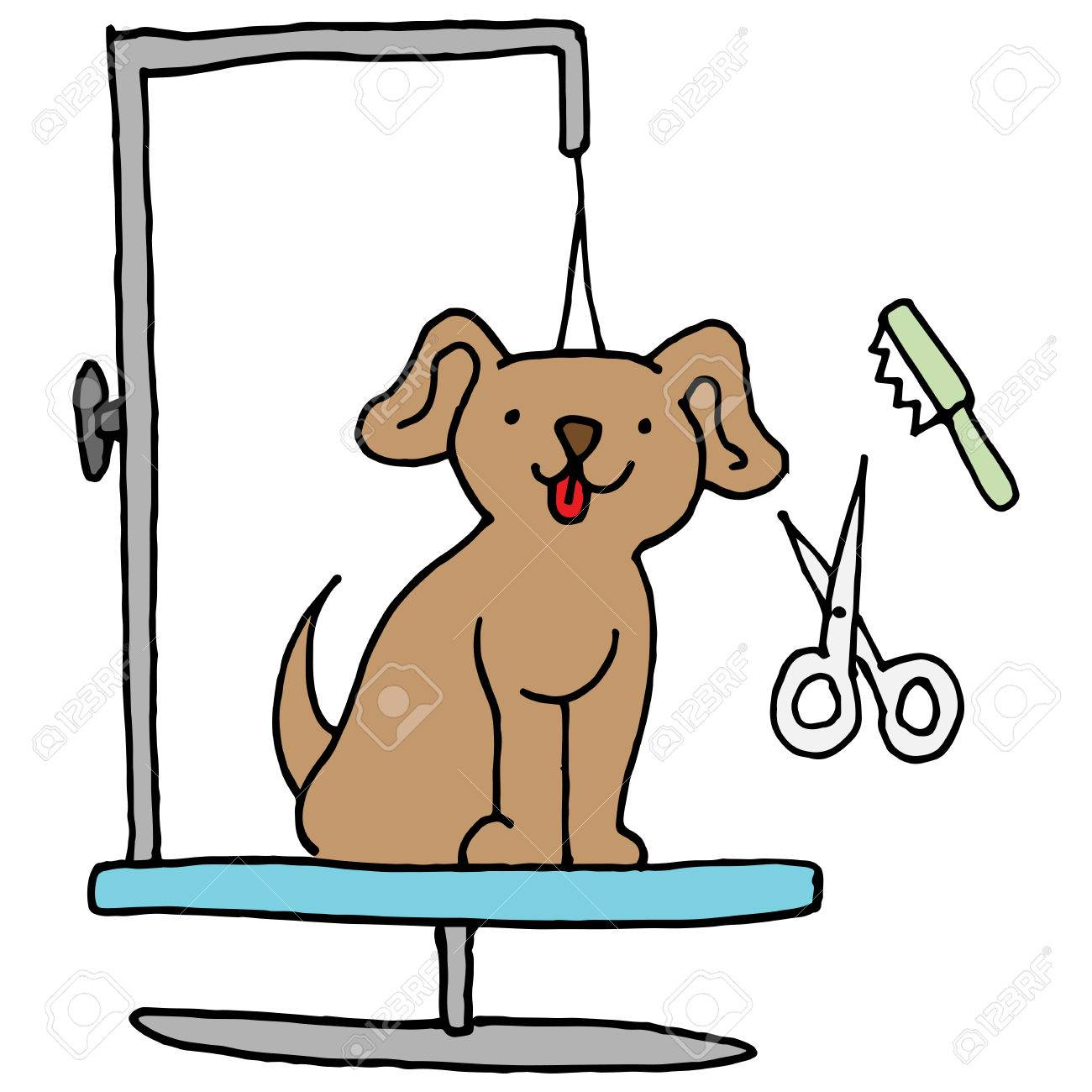 Dog grooming table » Clipart Station.