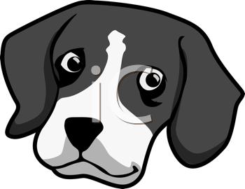 Dog Head Cartoon Clip Art.
