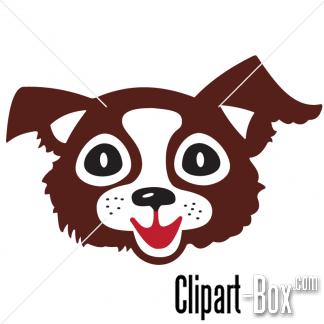 CLIPART CARTOON DOG'S HEAD.