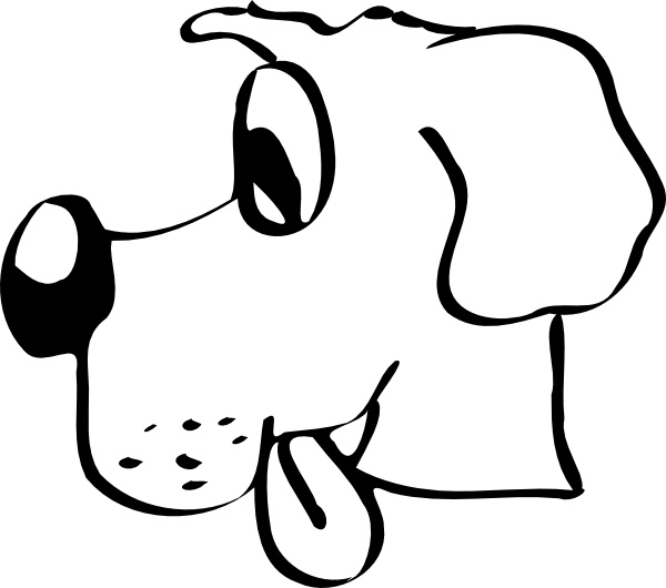 Dog Head clip art Free vector in Open office drawing svg ( .svg.