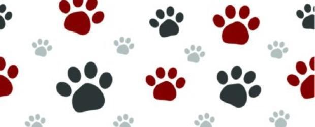clipart dog print trail #7
