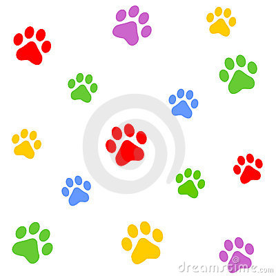 Paw Prints Border / Divider Royalty Free Stock Images.
