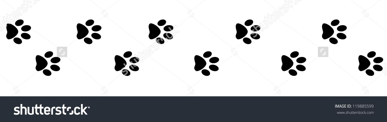 clipart dog print trail #2