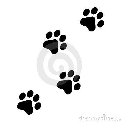 clipart dog print trail #14
