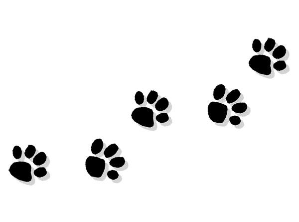 clipart dog print trail #13