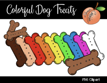 Colorful Dog Treats Clipart.