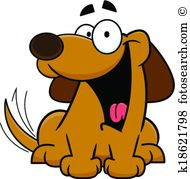 Dog wagging tail Clipart Royalty Free. 325 dog wagging tail clip.