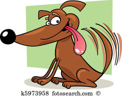 Dogs Smiling And Wagging Their Tails Clipart Free