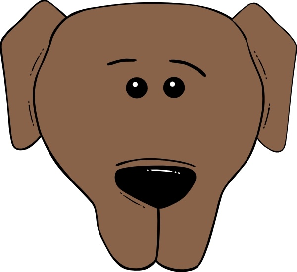 Dog Face Cartoon World Label clip art Free vector in Open.