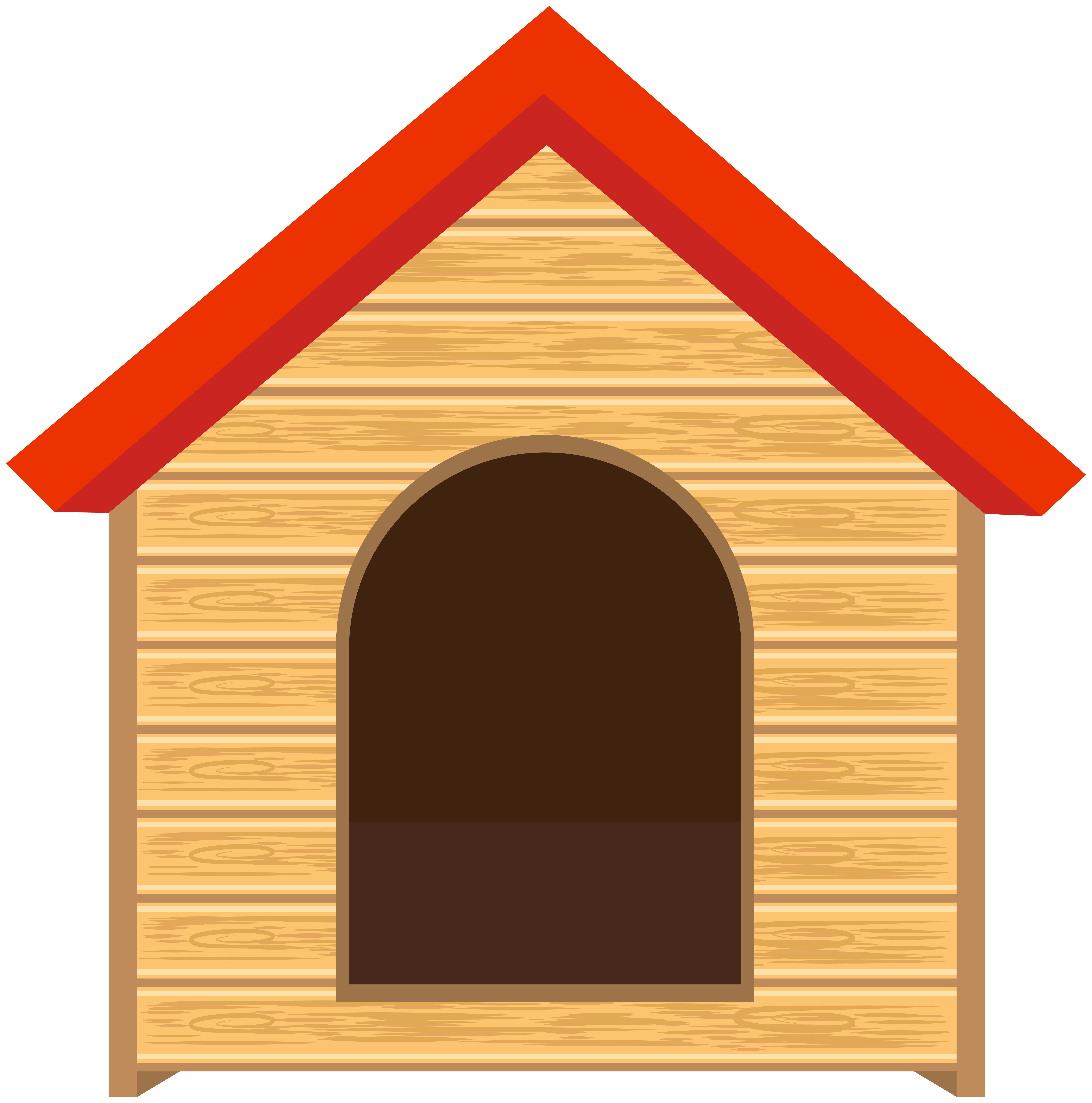 Doghouse PNG Clip Art Image.