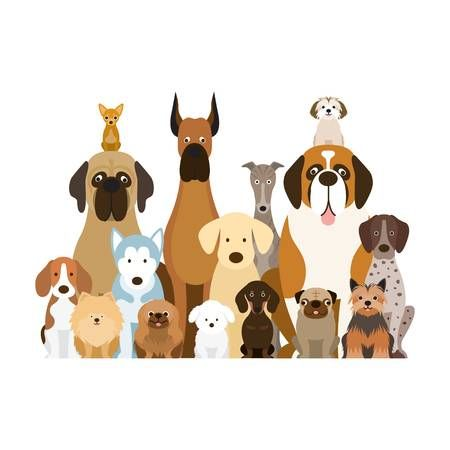 Image result for clipart group of dogs.