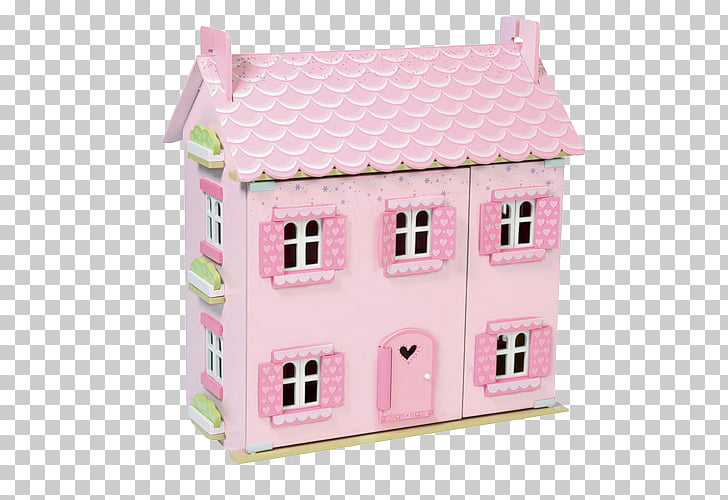 Dollhouse Facade Pink M, doll house PNG clipart.