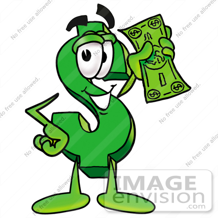 Green Dollar Sign Clipart.