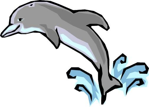 Dolphin Jumping Clipart.