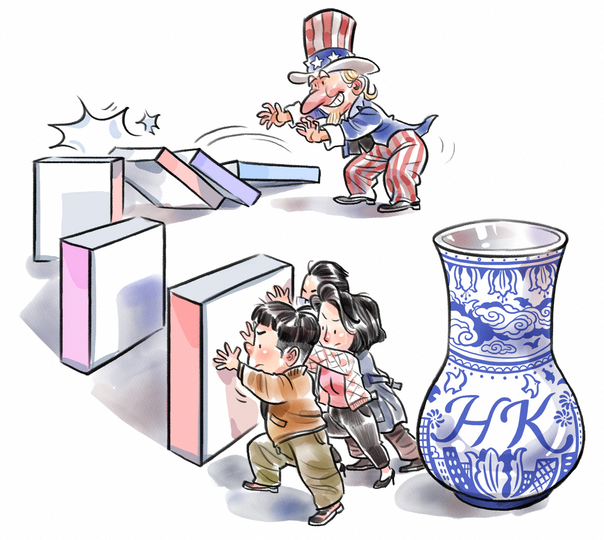 US incites violence by passing HK laws.