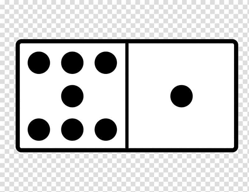 Dominoes transparent background PNG clipart.
