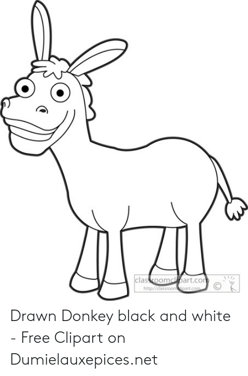 Classroomcipartco Cort Httpclassroom Ipartcom Drawn Donkey Black and.