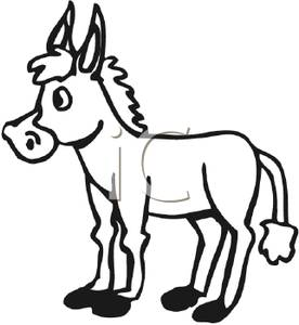 Donkey Clipart Black And White (100+ images in Collection) Page 1.
