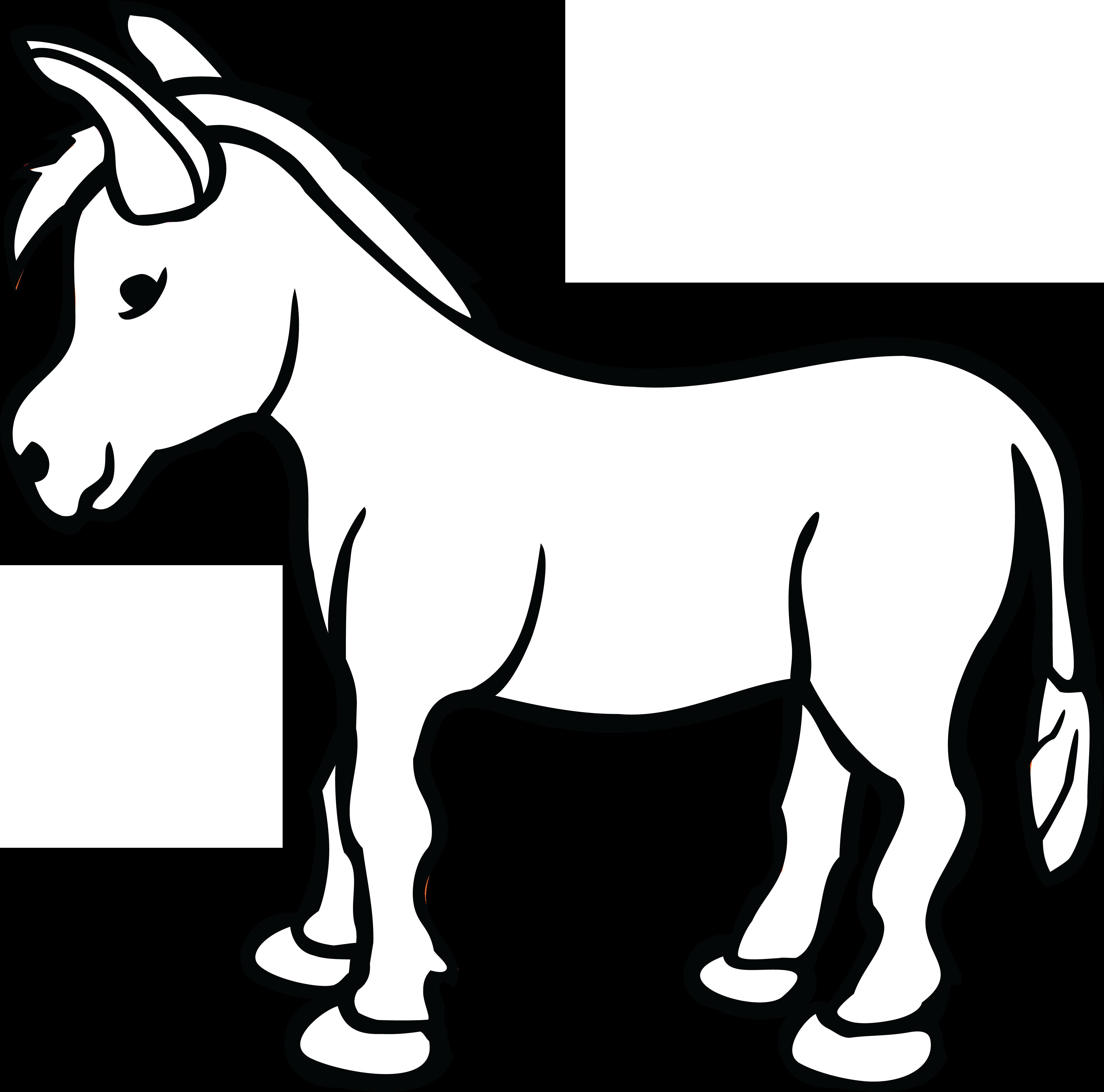 Jesus On Donkey Clipart Black And White #138940.