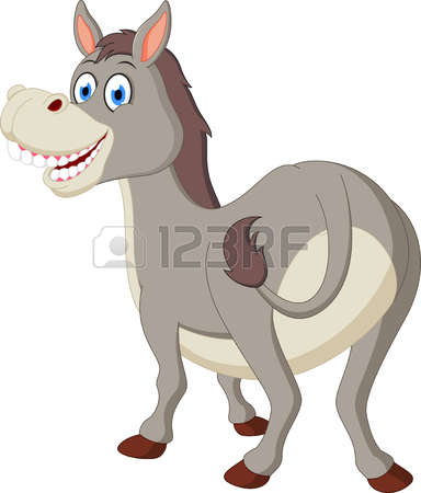 clipart donkey laughing #2