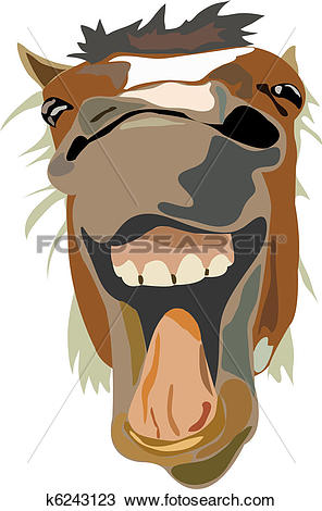Clipart of Illustration of the laughing horse k6243123.