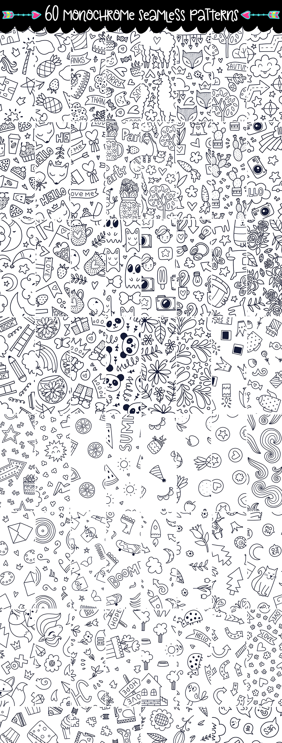 645 Doodles and Patterns.