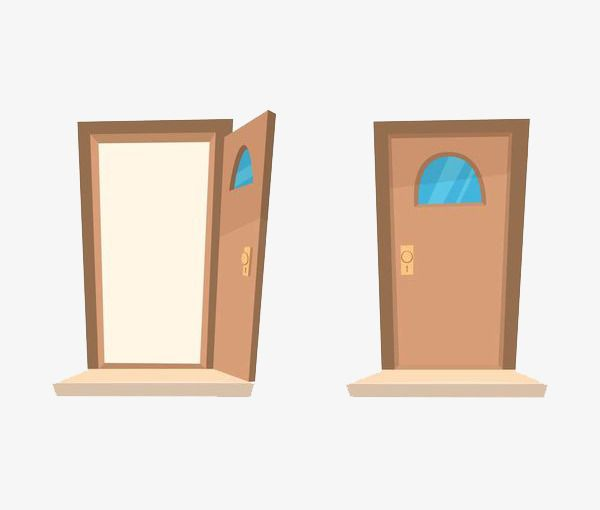 Cartoon 2 Door, Cartoon Clipart, Cartoon, Door PNG.