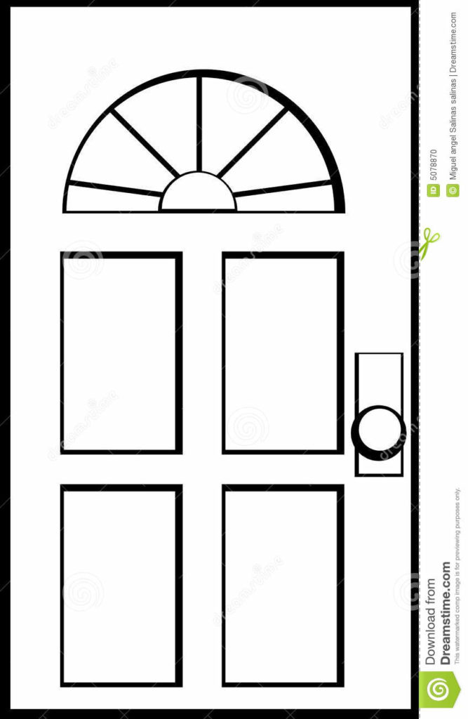 Line Drawing Door : Clipart door black and white clipground