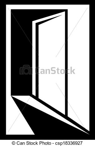 Vector Illustration of icon with open door.