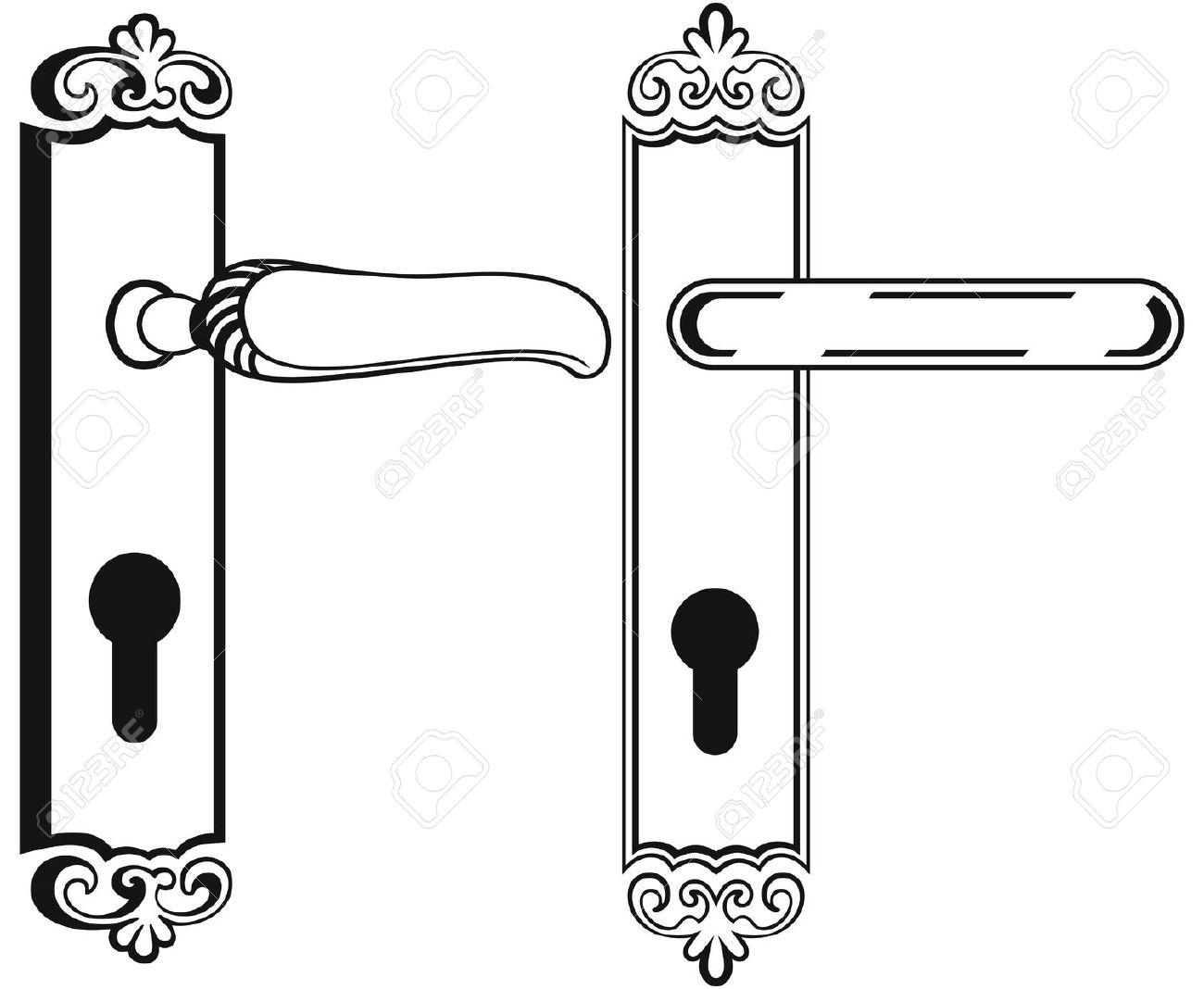 clipart door handle #6