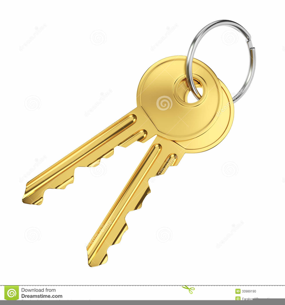 Door Key Clipart.