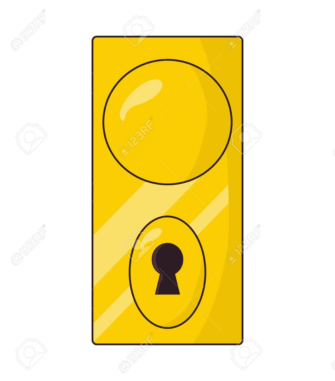 Modern door knob, handle vector symbol icon design. Beautiful...
