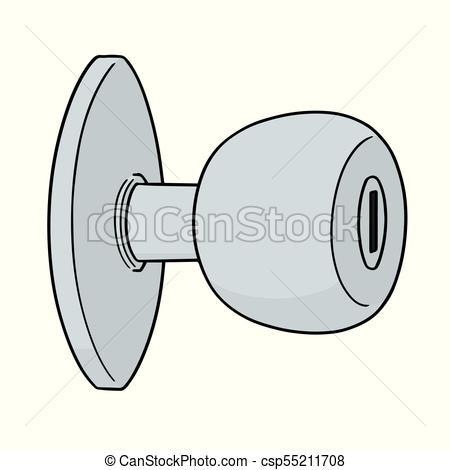 vector of door knob.