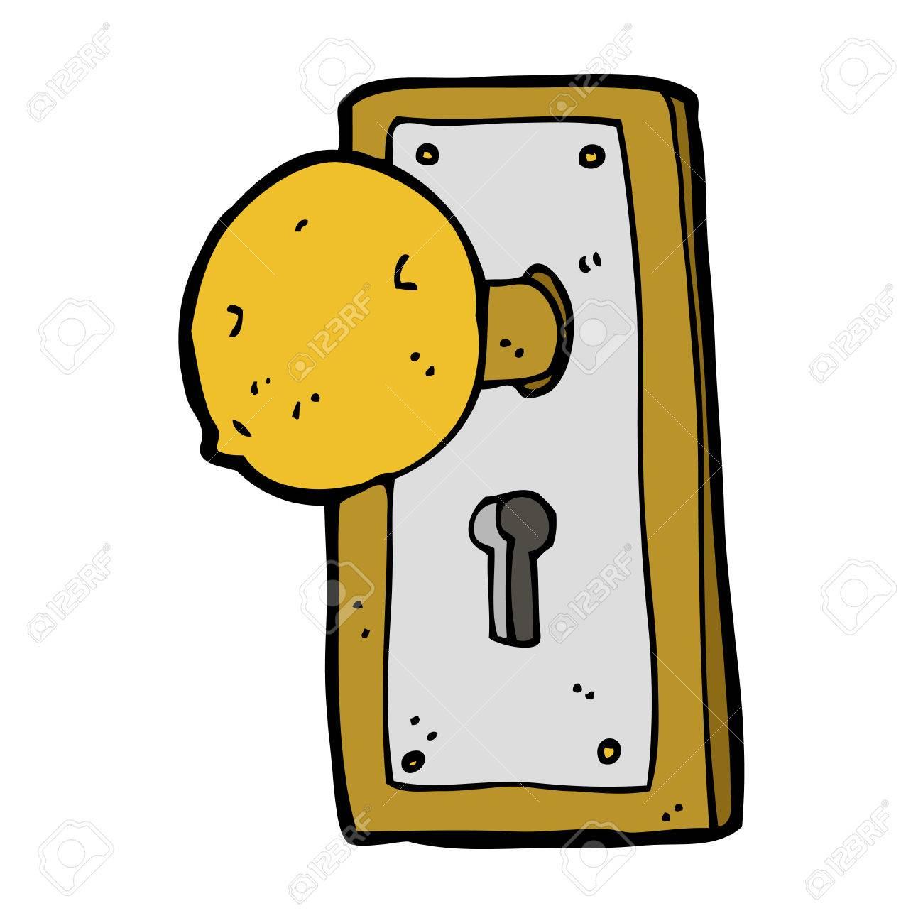 Cartoon old door knob » Clipart Station.