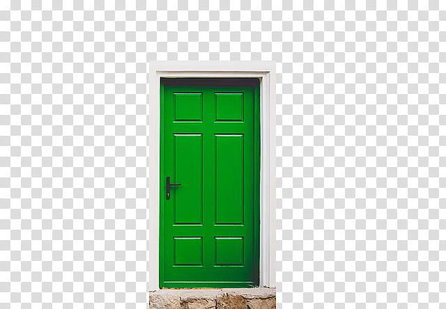 Doors, green wooden.
