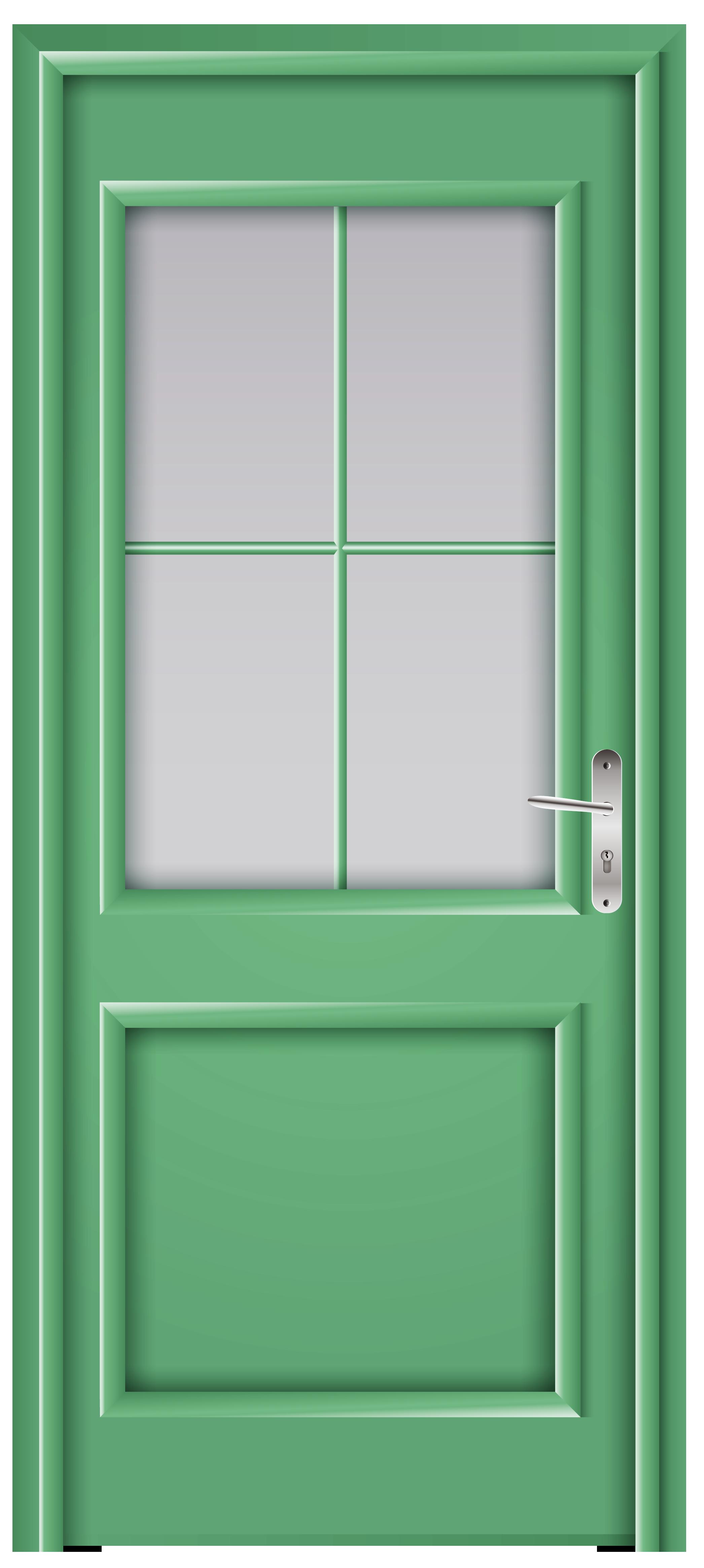 Door Green PNG Clip Art.