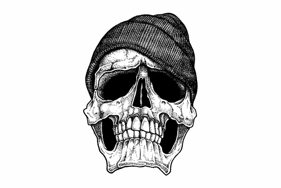 Dope Is My Hustle Gangster Skull Tattoo Designs.