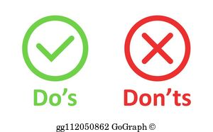 Dos And Donts Clip Art.