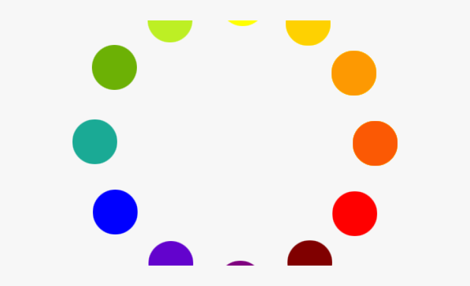 Dots Clipart Primary Color.