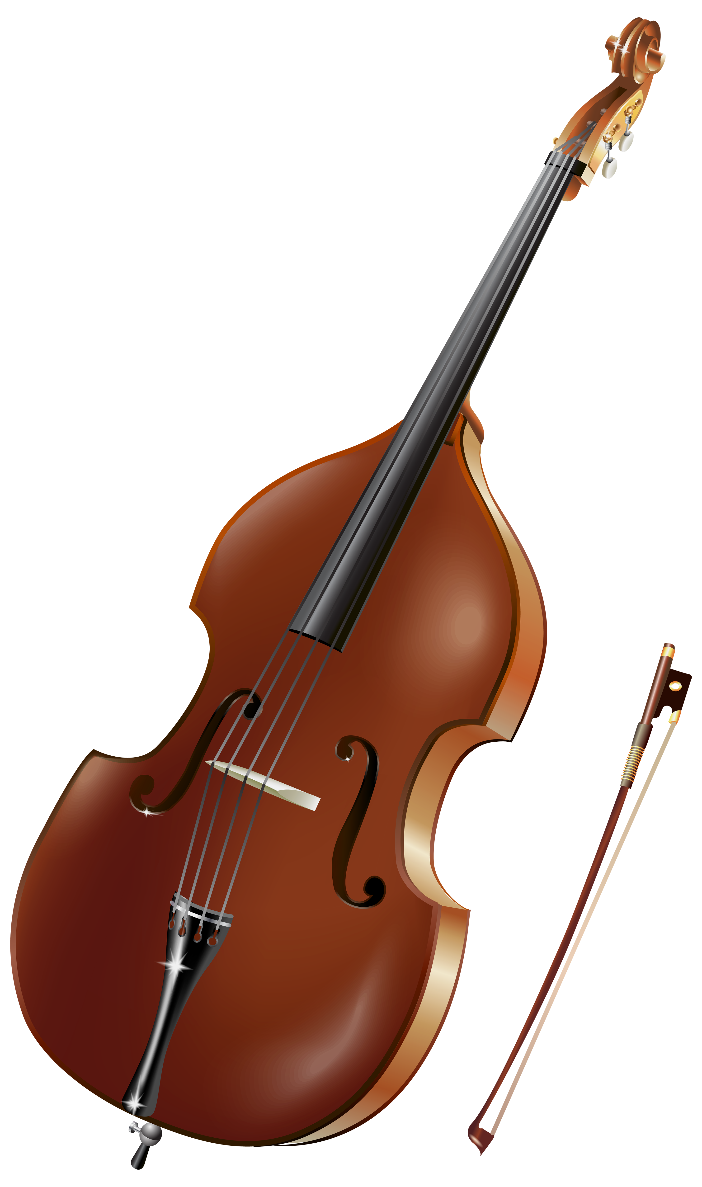 Double Bass PNG Clipart.