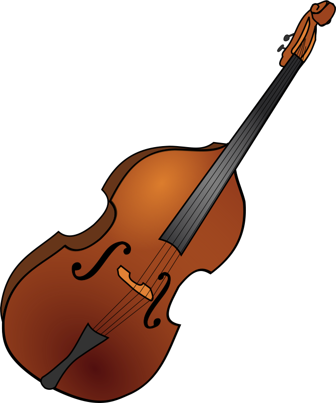 Free Clipart: Double bass 1.