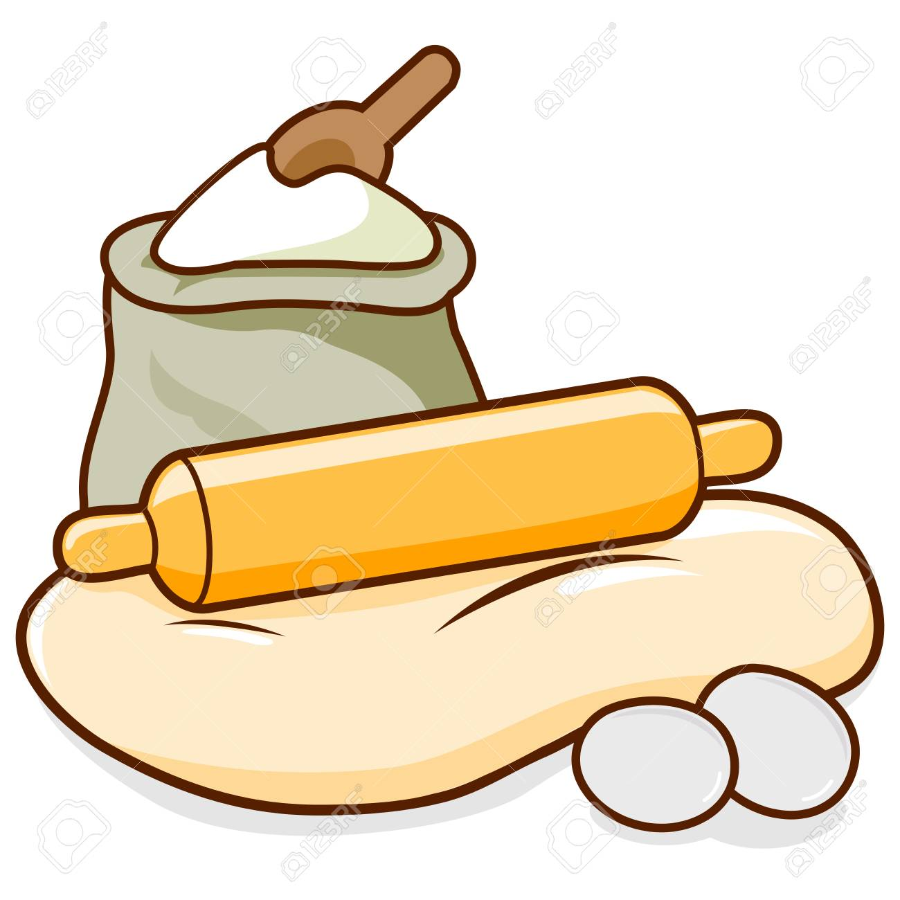 97 Rolling Pin free clipart.