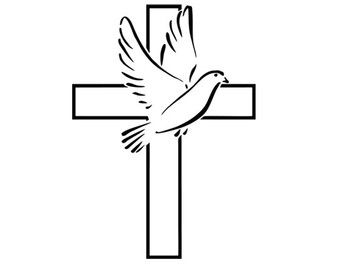 dove cross silhouette svg dxf file instant download.